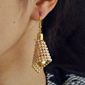 The Beaded Cone Earrings (ACE057)