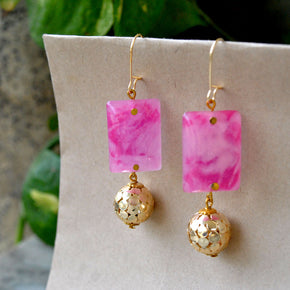 Marble Marvel Earrings (ACE069)