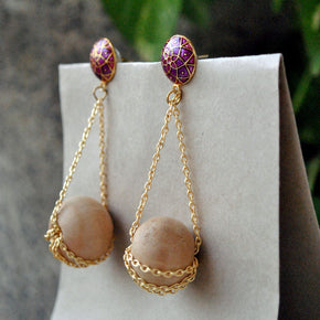 The Wooden Ballet Earrings (ACE70)