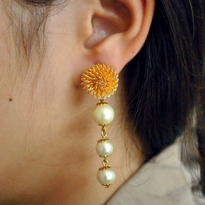 The  Golden Porcupine Earrings (ACE075)