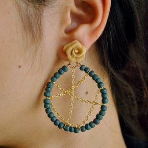 Criss Cross Hoop Long Dangling Earrings(ACE097)
