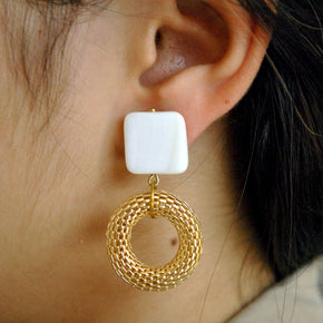 Modern Mesh Earrings (ACE106)