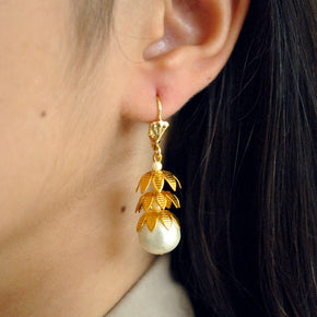 The Leafed Fruit Earrings (ACE123)