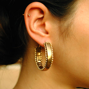Leather Magic Hoop Earrings (ACE195)