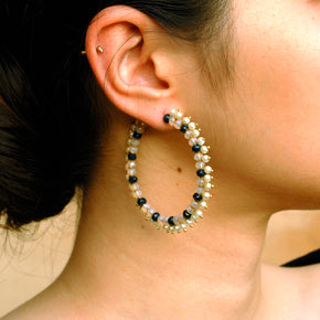 Duotone Hoops Earrings (ACE196)