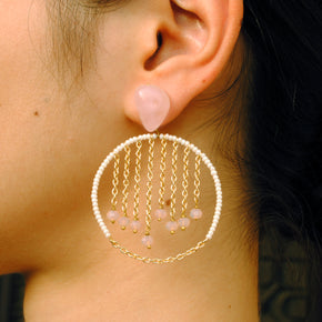 Swinging Lights Hoop Earrings(ACE200)