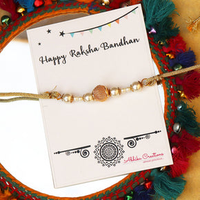 Mesh And Pearl Rakhi(ACJR012)