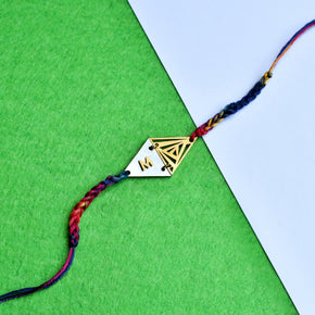 Two Triangle Personalised Rakhi (ACJR020)