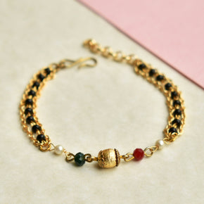 Multi Color Beads Mangalsutra Bracelet (ACMB007)
