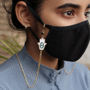 Hamsa Evil Eye Mask Chain (ACMC014)