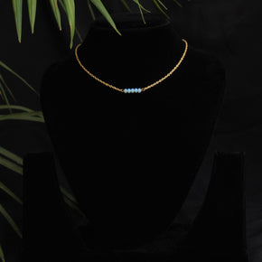 Blue Bar Necklace (ACMN016)