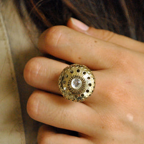 Oxidized Dome Ring (ACR024)