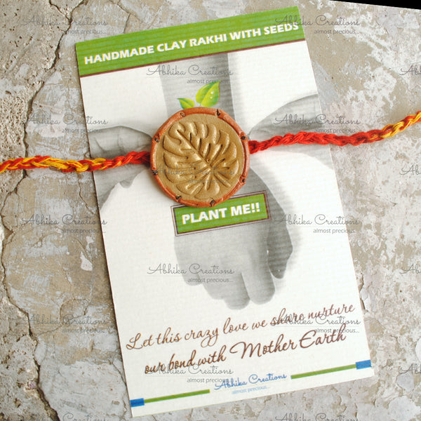 "Goodluck Leaf Clay Rakhi ""The Abstract Nature Collection""(ACRC006)"