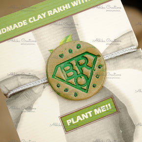 Super Bro Grow Green Clay Rakhi (ACRC012)