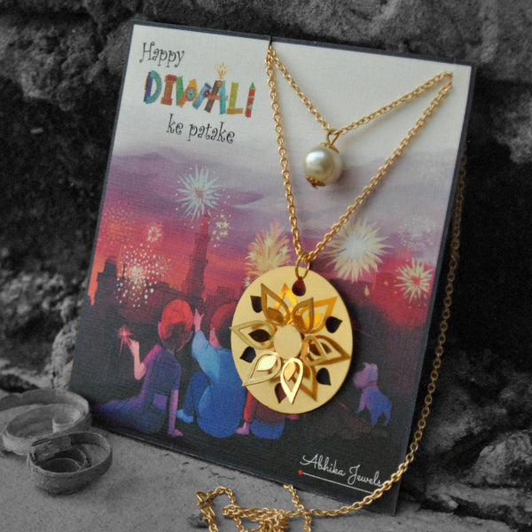 Round Flower Layered Necklace (DFN005)