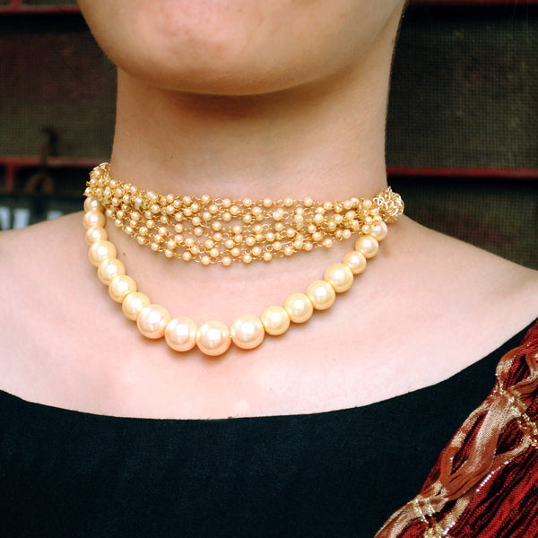 Pearl Choker Necklace(ACN029)