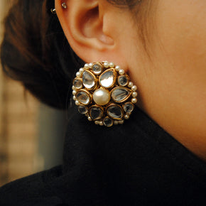 Kundan Flower Stud Earrings (ACE190)