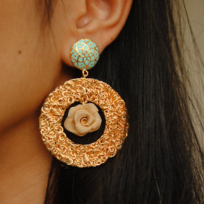 Rose Showstopper Earrings (ACE015)