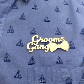 Grooms Gang Wedding Brooch - Pack Of 10 Brooches (AWBR004)