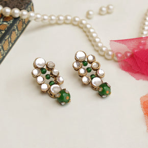 Studded Kundan Bead Earrings (ACE235)