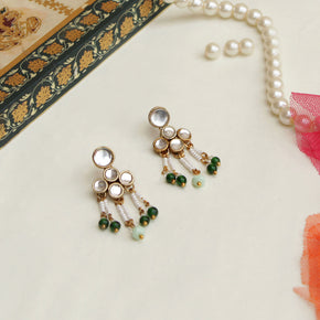 Teeny Drop Kundan Earrings (ACE237)