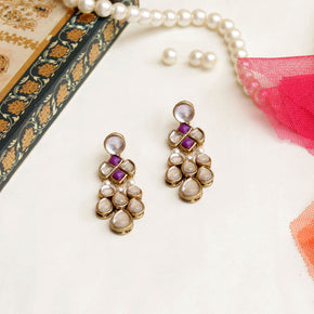 Droopy Kundan Earrings(ACE238)