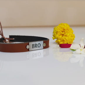 Brown Vegan Leather Bro Rakhi (LR004)