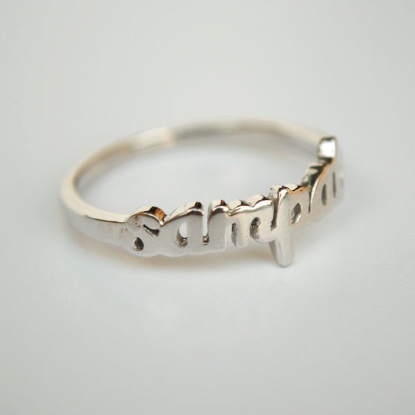 Personalised Silver Name Ring(SKPR001)