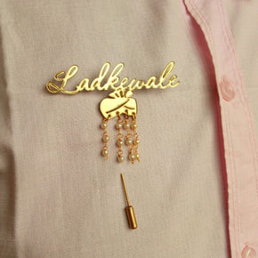 """Ladkewale"" Wedding Brooch (AWBR01)"