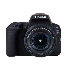 Canon EOS 200D Kit with EF-S 18-55mm f/4-5.6 IS STM Lens Digital SLR Cameras - Black