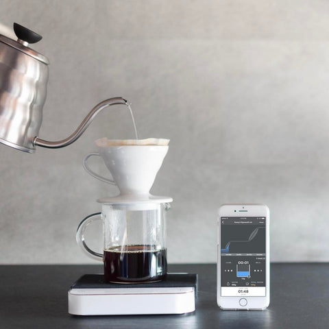Acaia Pearl digitale Kaffeewaage. Weiß- Handcraft Coffee