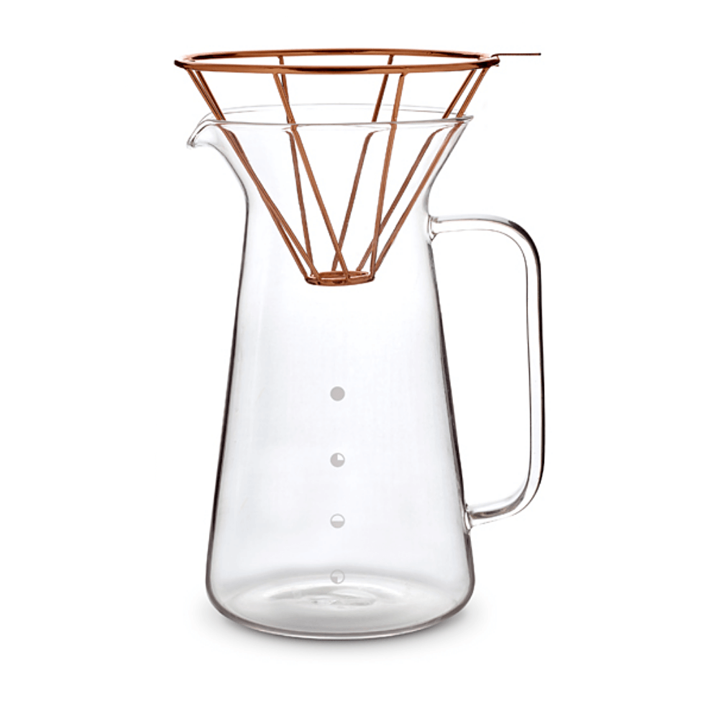 Toast Living H.A.N.D Kaffeekanne mit Filter in Kupferoptik Set, mit Henkel. 600 ml- Handcraft Coffee