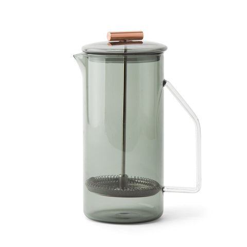 Yield Design French Press aus Glas. Farbe: Grau- Handcraft Coffee