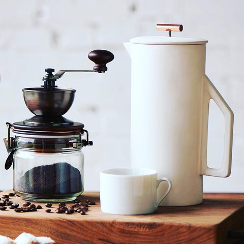 Yield Design elegante French Press aus Keramik- Handcraft Coffee
