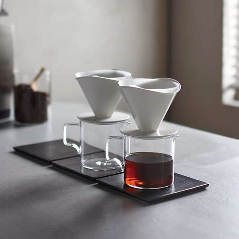 Kinto Japan OCT- Kollektion Przellan- Kaffeefilter für bis zu 2 Tassen- Handcraft Coffee