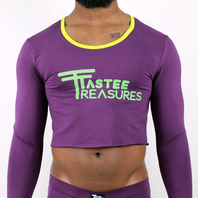 *Limited Edition* Gem Stone Drop Neck Crop Top  -  Tops - TasteeTreasures