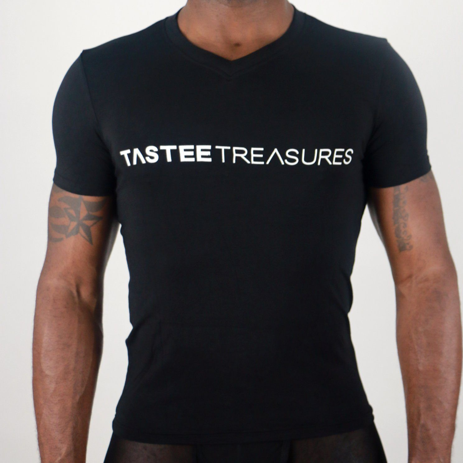 Plush Fitted V Neck Tops and Shirts TasteeTreasures