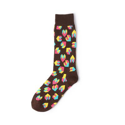Tetris Heart Socks - Brown Socks TasteeTreasures Brown