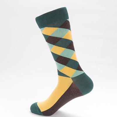 Mellow Yellow Checker Board Socks Socks TasteeTreasures