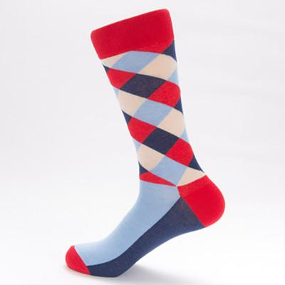 Roaring Red Checker Board Socks - Socks - TasteeTreasures