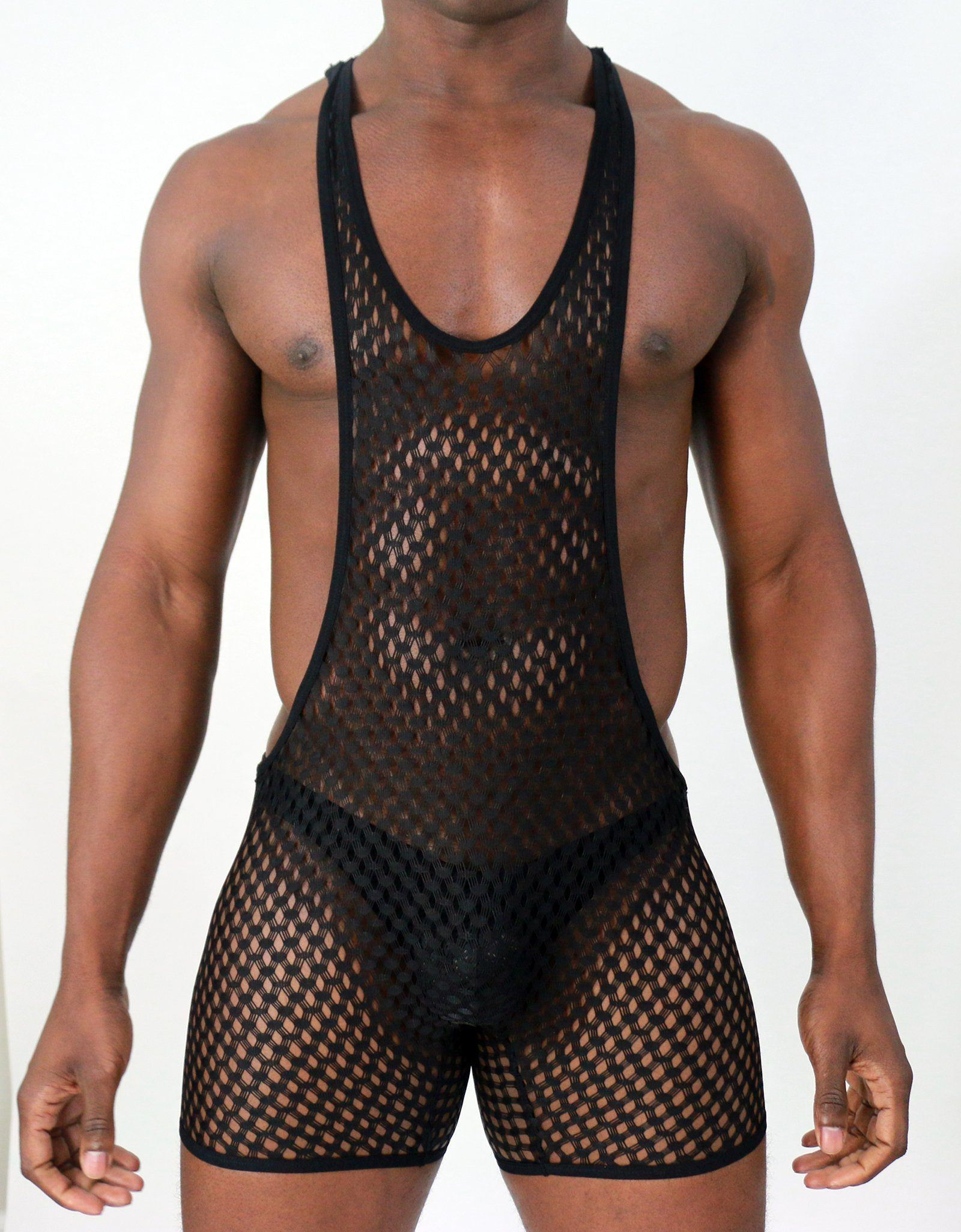 Midnight Mesh Body Suit  -  Body Suit - TasteeTreasures