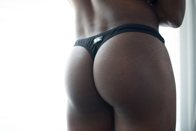 Midnight Mesh Thong  -  Underwear - TasteeTreasures