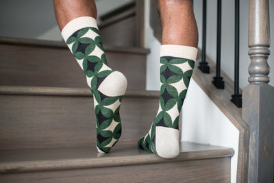 Green Tribal Socks Socks TasteeTreasures