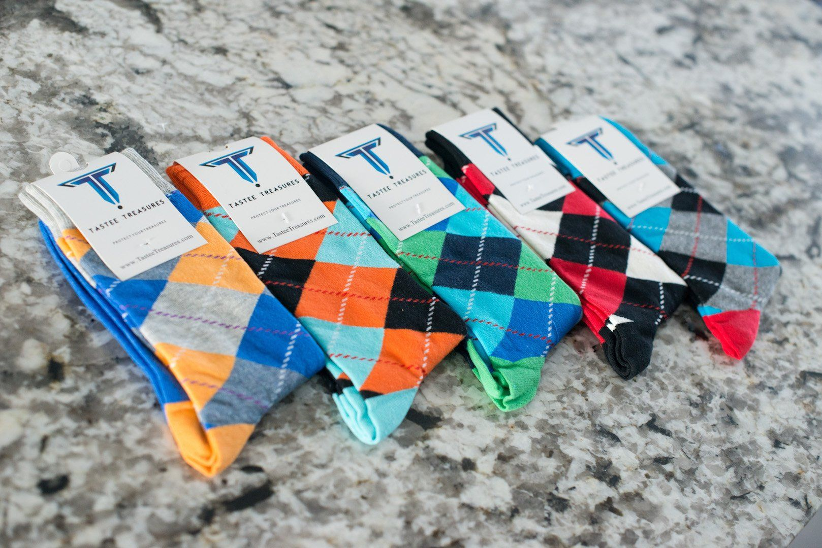 Plaid 5-Pack Socks Socks TasteeTreasures