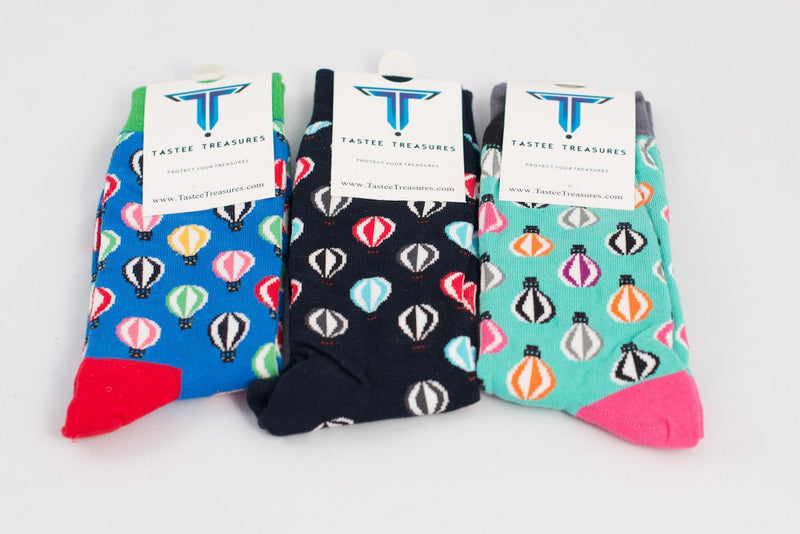 Hot Air Balloon Socks 3-Pack  -  Socks - TasteeTreasures