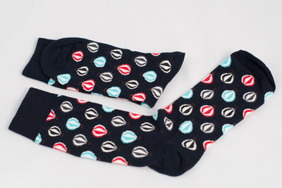 Hot Air Balloon Socks Black  -  Socks - TasteeTreasures