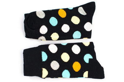 Black Polka Dot Socks Socks TasteeTreasures