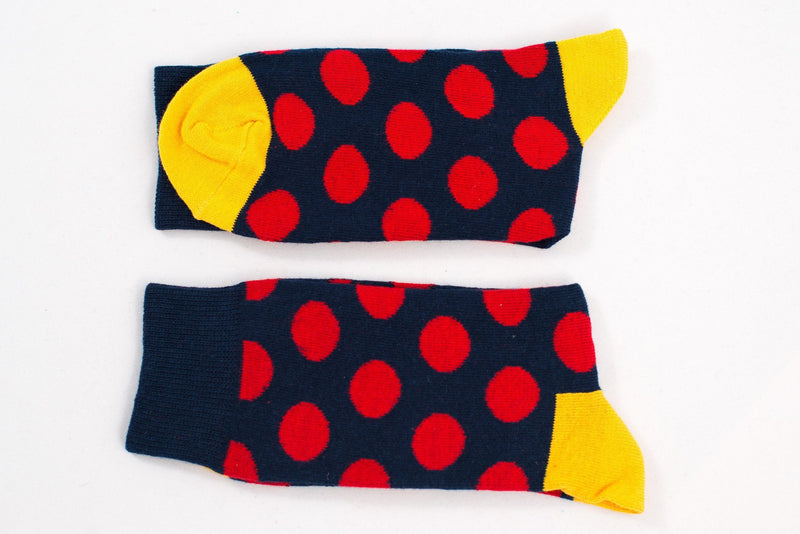Dark Blue Polka Dot Socks Socks TasteeTreasures