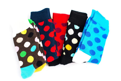 Polka Dot Socks 5-pack Socks TasteeTreasures 5 Pack