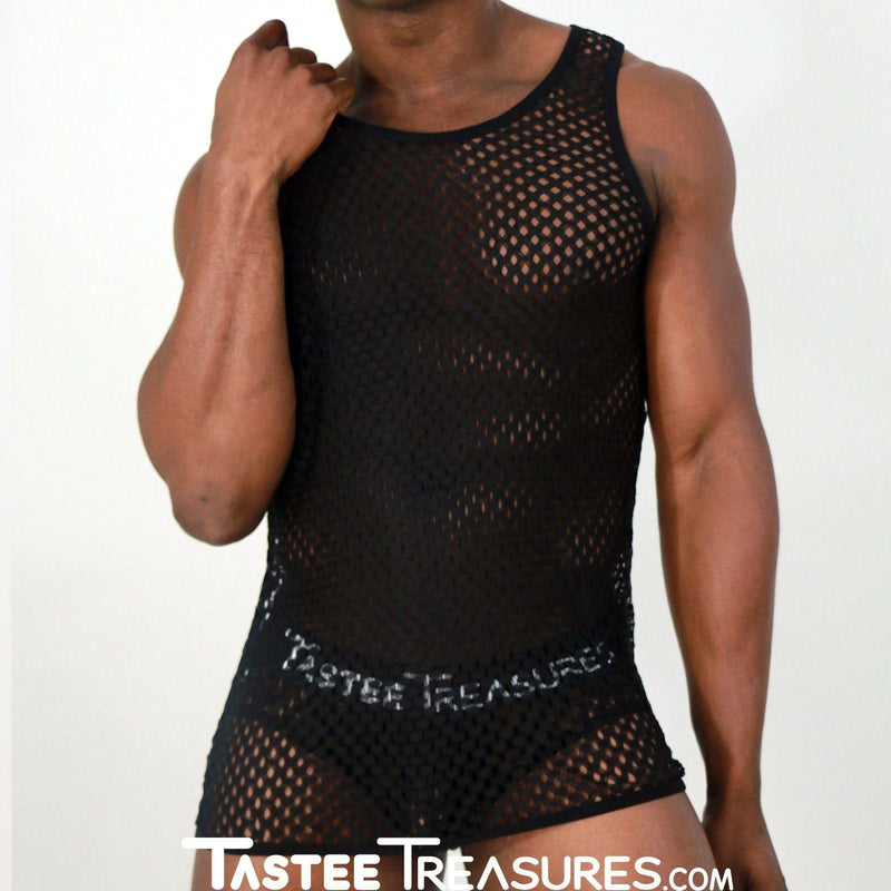 Midnight Mesh Tank Top *Limited Edition*  -  Tank Top - TasteeTreasures